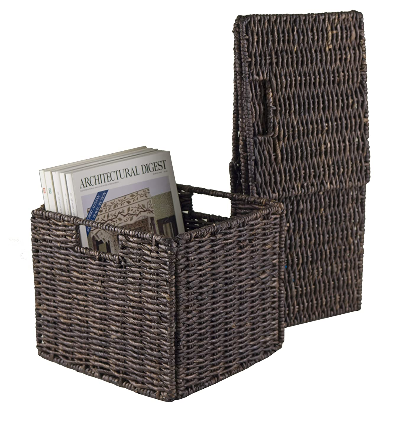 Winsome Wood Granville Foldable Baskets Small Set of 2 Winsome Trading 38207