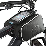 KEMIMOTO Bicycle Bags Front Tube Frame Pannier Bike Storage Bag with Mobile Phone Holder