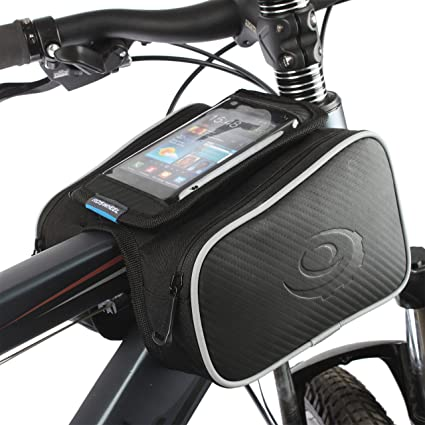 KEMIMOTO Bicycle Bags Front Tube Frame Pannier Bike Storage Bag with Mobile Phone Holder  sc 1 st  Amazon.com & Amazon.com : KEMIMOTO Bicycle Bags Front Tube Frame Pannier Bike ...