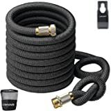 Crenova 50ft Expandable Hose Garden Hose with Double Latex Core, Solid Brass Connector and Extra Strength Textile