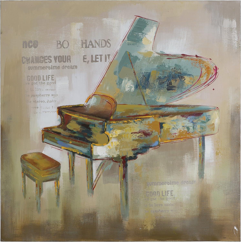 Yosemite Home Decor Paris Piano, Multi