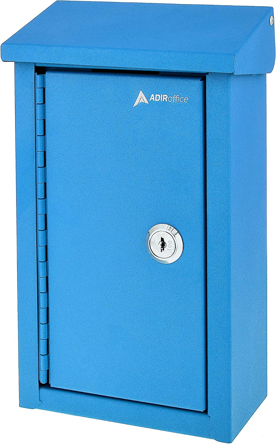 AdirOffice Outdoor Large Key Drop Box - Commercial Grade Heavy-Duty Storage Box - Safe & Secure Parcel & Packages - for Home & Business Use (Blue)