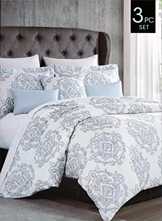 set piece white shades bedding chic boho queen of gray cover rowley full in pattern cynthia medallion shabby duvet bed product pink