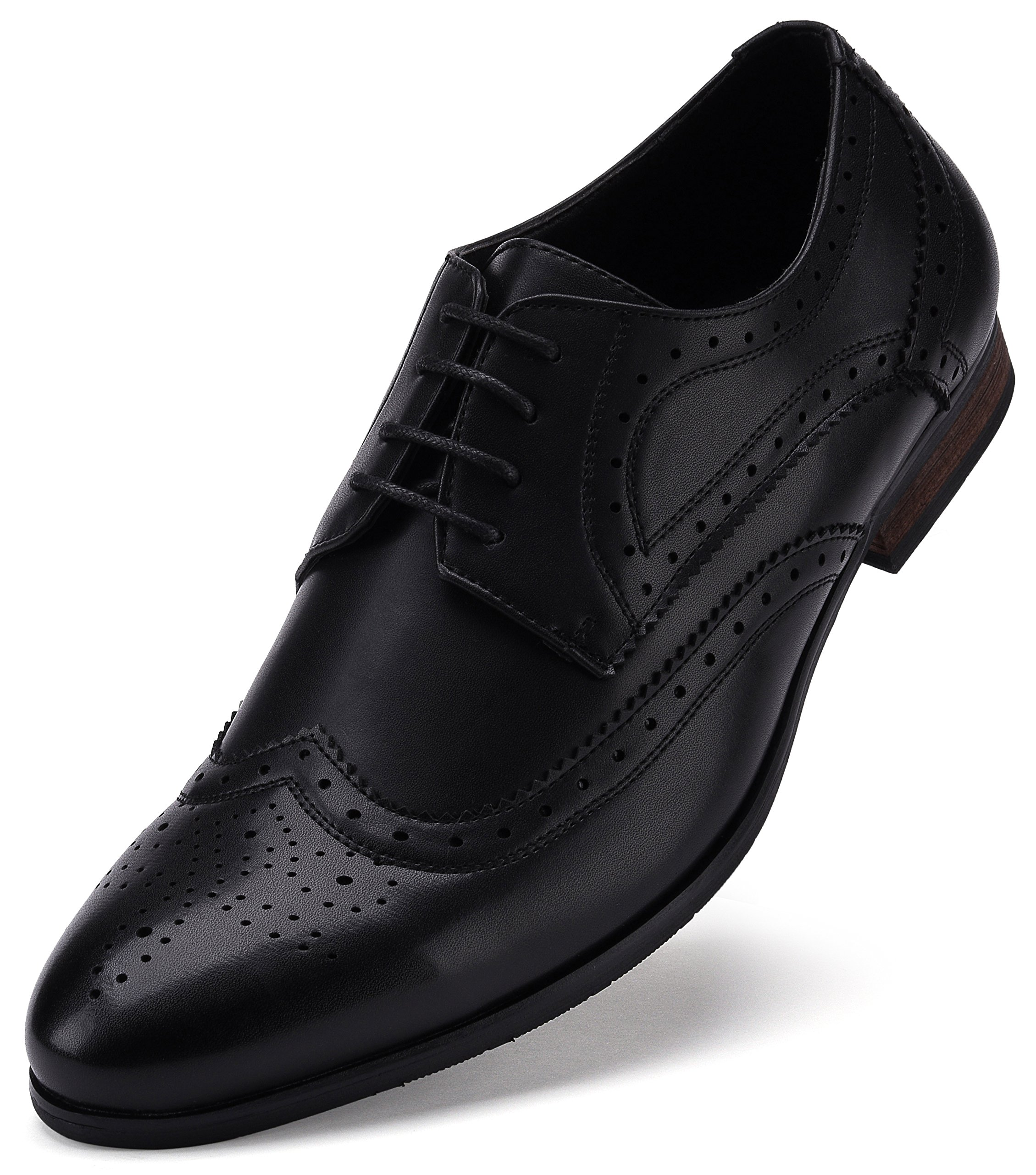 Fine Detail Wingtip Oxford Shoe Black US-10.5D(M) | UK-43-44 | EU-10