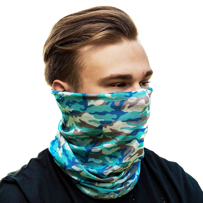 Fen & F フェイス 衣類マスク - 多機能ヘッドバンド - ネックゲートル - マイクロファイバー シームレス 迷彩柄 ヘッドウェア 屋外用 風 埃 日光 寒い 暑さから保護   B07PNPMXKT