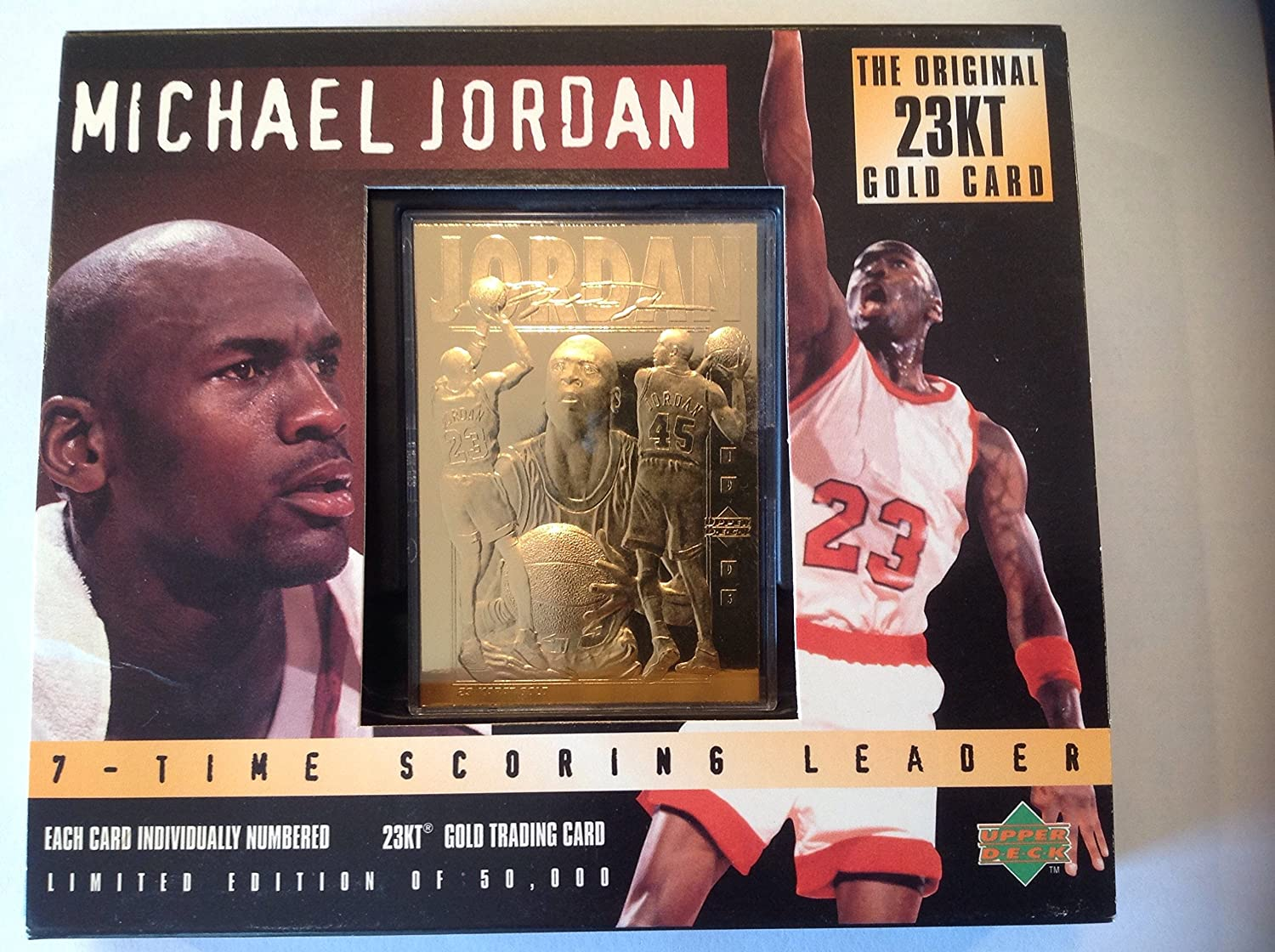 ee3825093ca Amazon.com   Michael Jordan 23 Karat Gold Foil Trading Card (Triple Image  Edition)   Sports Related Trading Cards   Sports   Outdoors