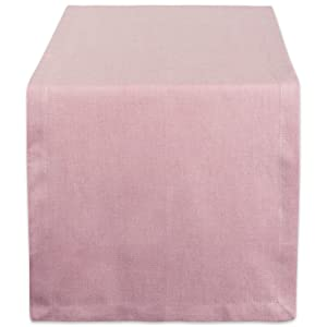 DII CAMZ38727 Solid Chambray, Table Runner 14x72, Chambray Rose