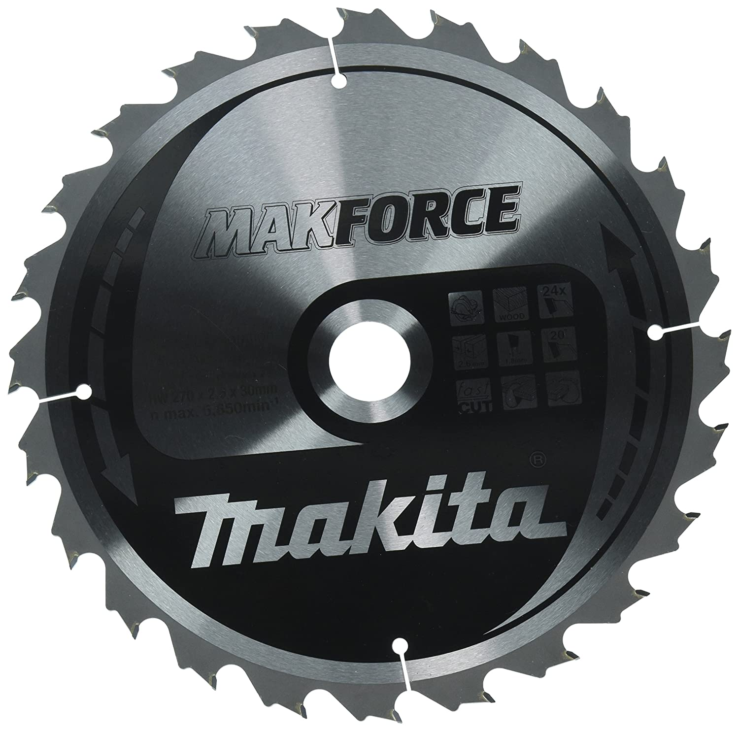 Makita makforce saege Lame, 270  x 30  mm, 24  dents, 32172 270 x 30 mm 24 dents B-32172