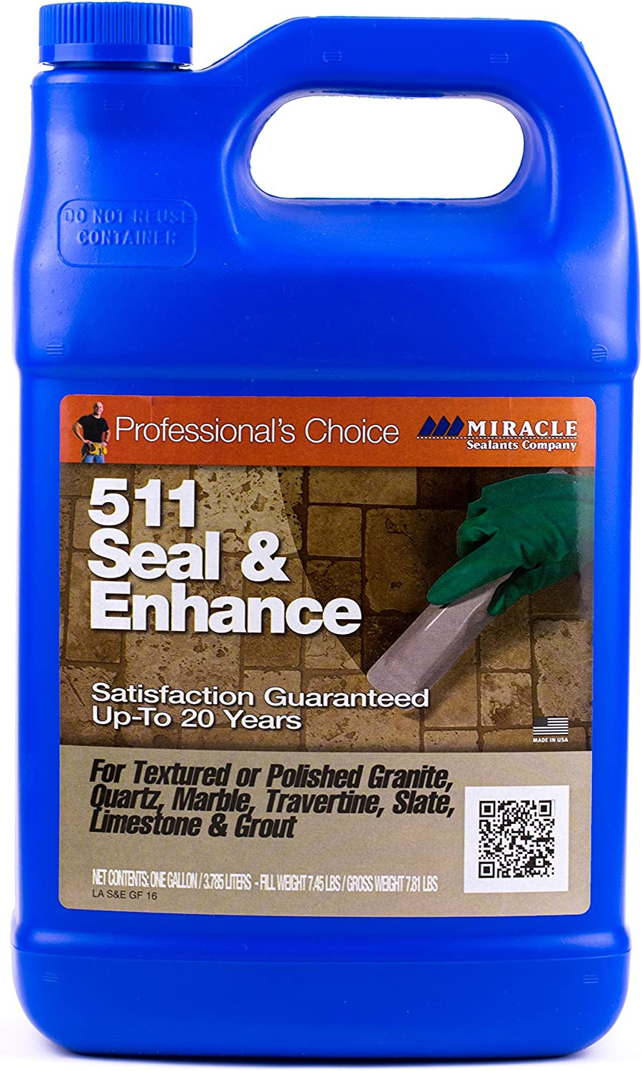 Miracle Sealants - 511 Seal and Enhance Penetrating Sealer and Color Enhancer 128oz - Gallon