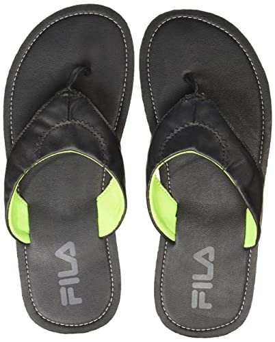 f36d8a49ac5b4 Fila Men s Black Rubber Flip Flops Thong Sandals (UK 8)  Buy Online ...
