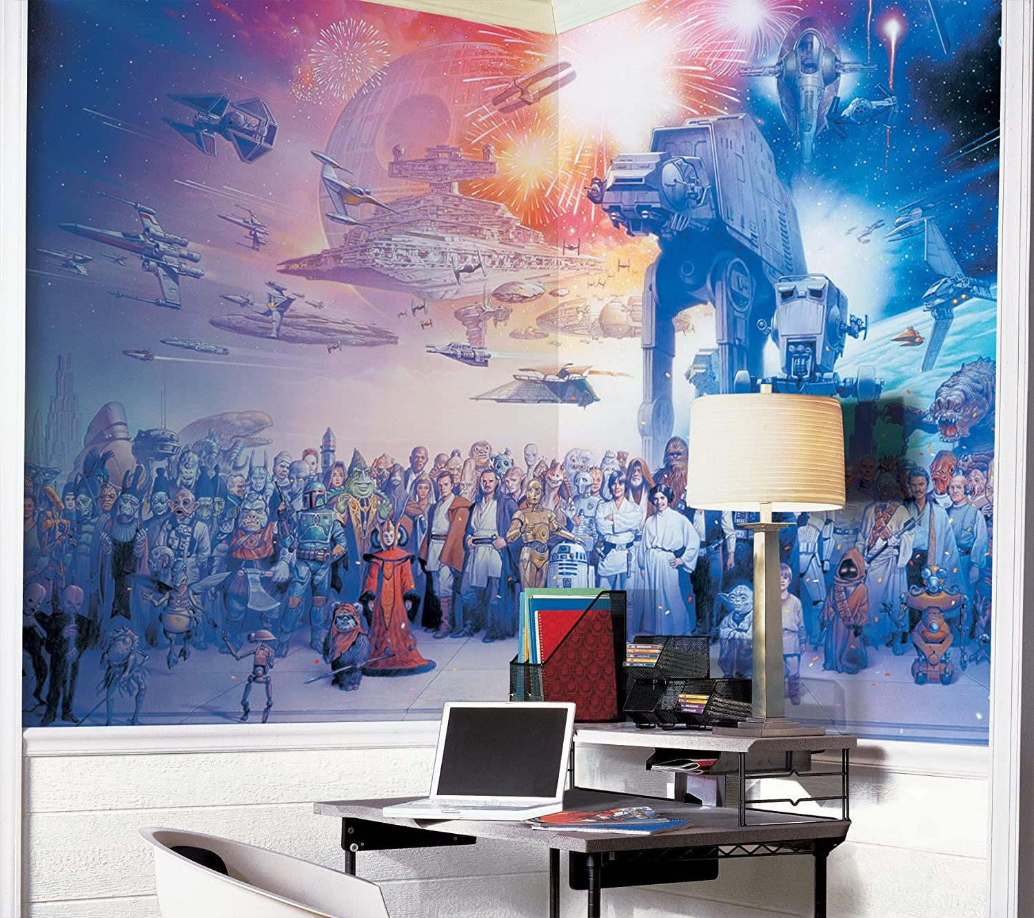 Nice Amazon.com: RoomMates JL1230M Star Wars Saga Prepasted Chair Rail Wall Mural:  Home Improvement Gallery