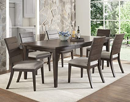 Amazon.com: Steve Silver 7 Piece Elora Dining Table Set in ...