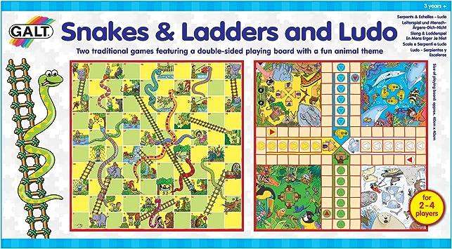 Galt Toys Ludo-Serpientes y Escaleras, Multicolor, 3+ (Galt America A0528E): Amazon.es: Juguetes y juegos