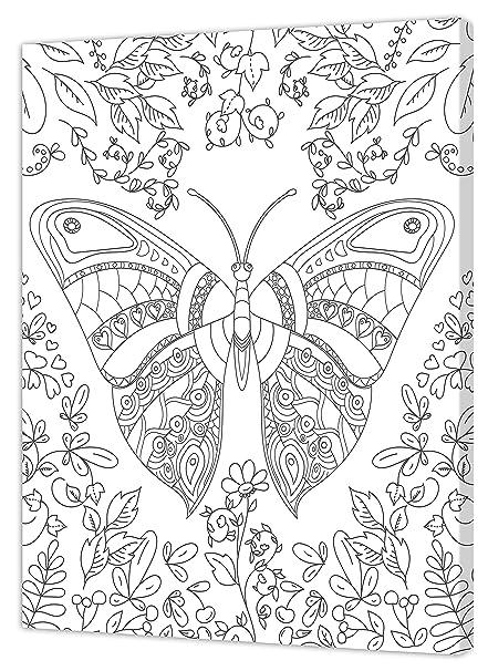 Pintcolor 7160.0 - Marco con Lienzo Impreso para Colorear, Madera de ...
