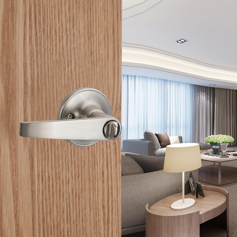 802-ET HENYIN Wave Lever Keyed Entry Door Lock//Door Knob Hardware Wave Handle and Closet Lockset