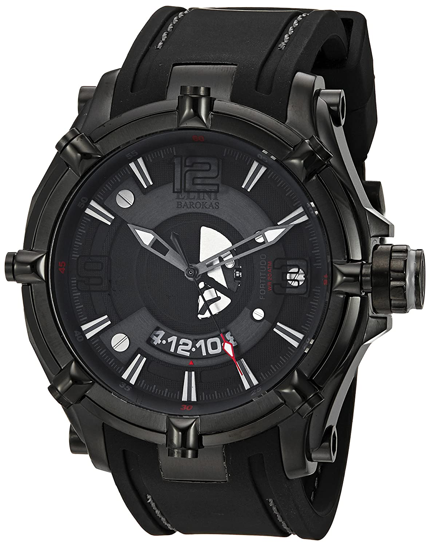 Amazon.com: Elini Barokas Men's ELINI-20000-BB-01-GRYA Fortitudo Duo Analog  Display Swiss Quartz Black Watch: Watches