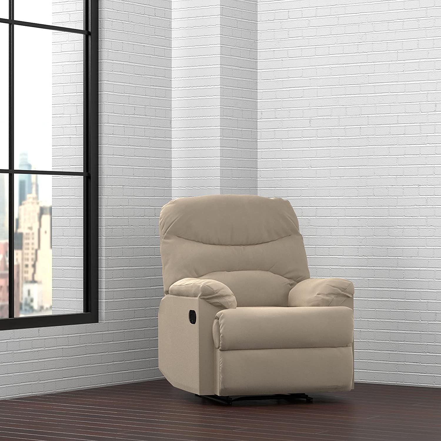 Amazon.com ProLounger Wall Hugger Recliner Chair in Khaki Microfiber Kitchen u0026 Dining & Amazon.com: ProLounger Wall Hugger Recliner Chair in Khaki ... islam-shia.org