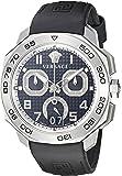 Versace Men's VQC010015 DYLOS CHRONO Analog Display Swiss Quartz Black Watch