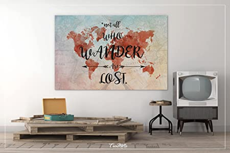 Cocomilla world map quote watercolor world map canvas print world cocomilla world map quote watercolor world map canvas print world travel map gumiabroncs Gallery