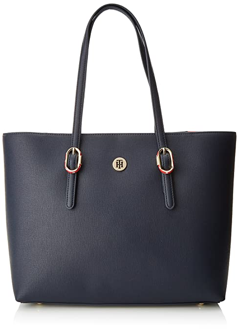 468a73f8d3b791 Tommy Hilfiger Th Buckle Tote - Borse a spalla Donna, Blu (Tommy Navy)