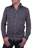 Diesel sparatone chemise à manches longues pour homme gris#1