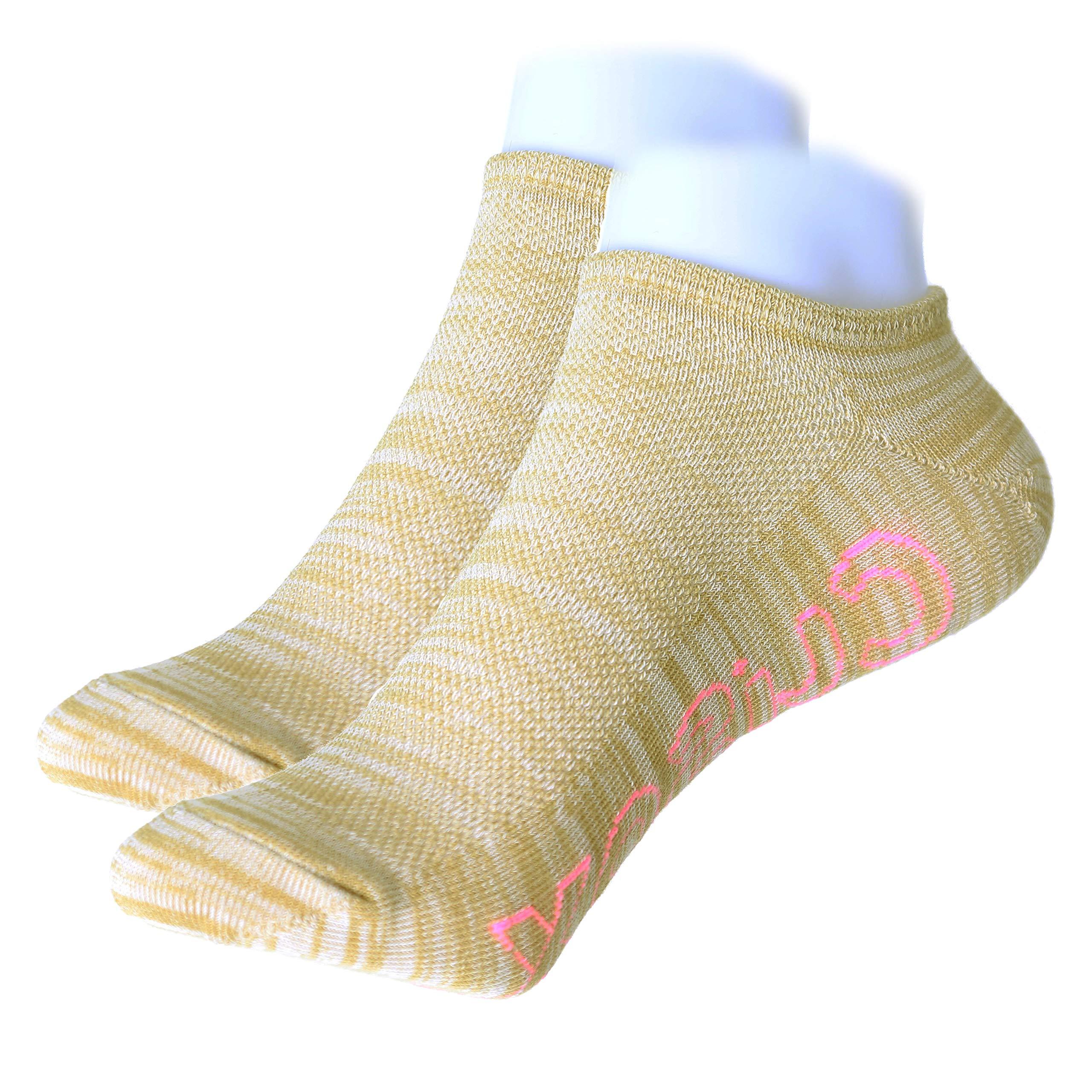 CUSOX Women\'s No Show Antibacterial Odor Free Socks with Seamless Toe 3 Pairs