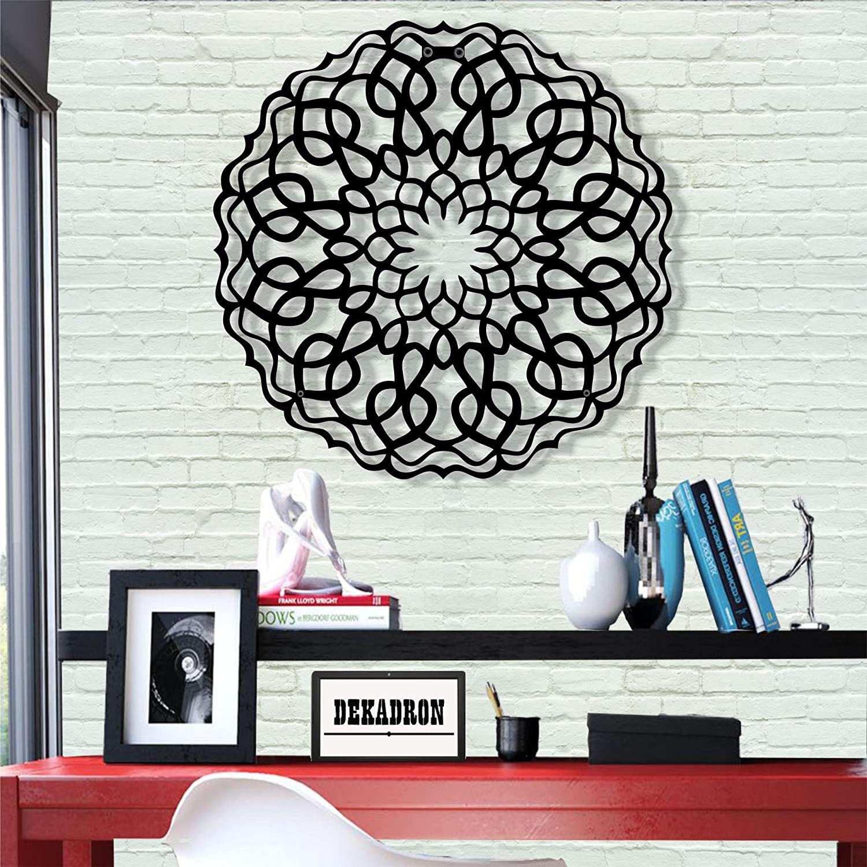 "Metal Wall Art - Mandala Design - Wall Silhouette Metal Wall Decor Home Office Decoration Bedroom Living Room Decoration (23"" W x 23"" H/58x58cm)"