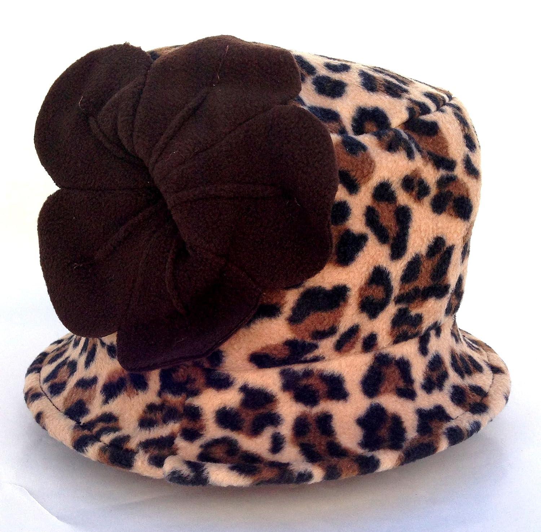 57f0a7a3f2f Amazon.com   Jeanne Simmons Women s Small Brim Polar Fleece Bucket Hat  (Brown Cheetah - Brown Flower)   Beauty Products   Beauty
