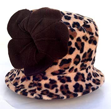 Image Unavailable. Image not available for. Color  Jeanne Simmons Women s  Small Brim Polar Fleece Bucket Hat (Brown Cheetah ... c14880eccdd3
