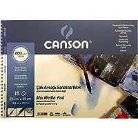 Canson Fineface Çok Amaçli Resim Bloklari 200Gr 25X35 15Yp Spiralli Resim Defteri