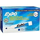 Expo Original Dry Erase Markers, Bullet Tip, Blue, Box of 12 (88003)