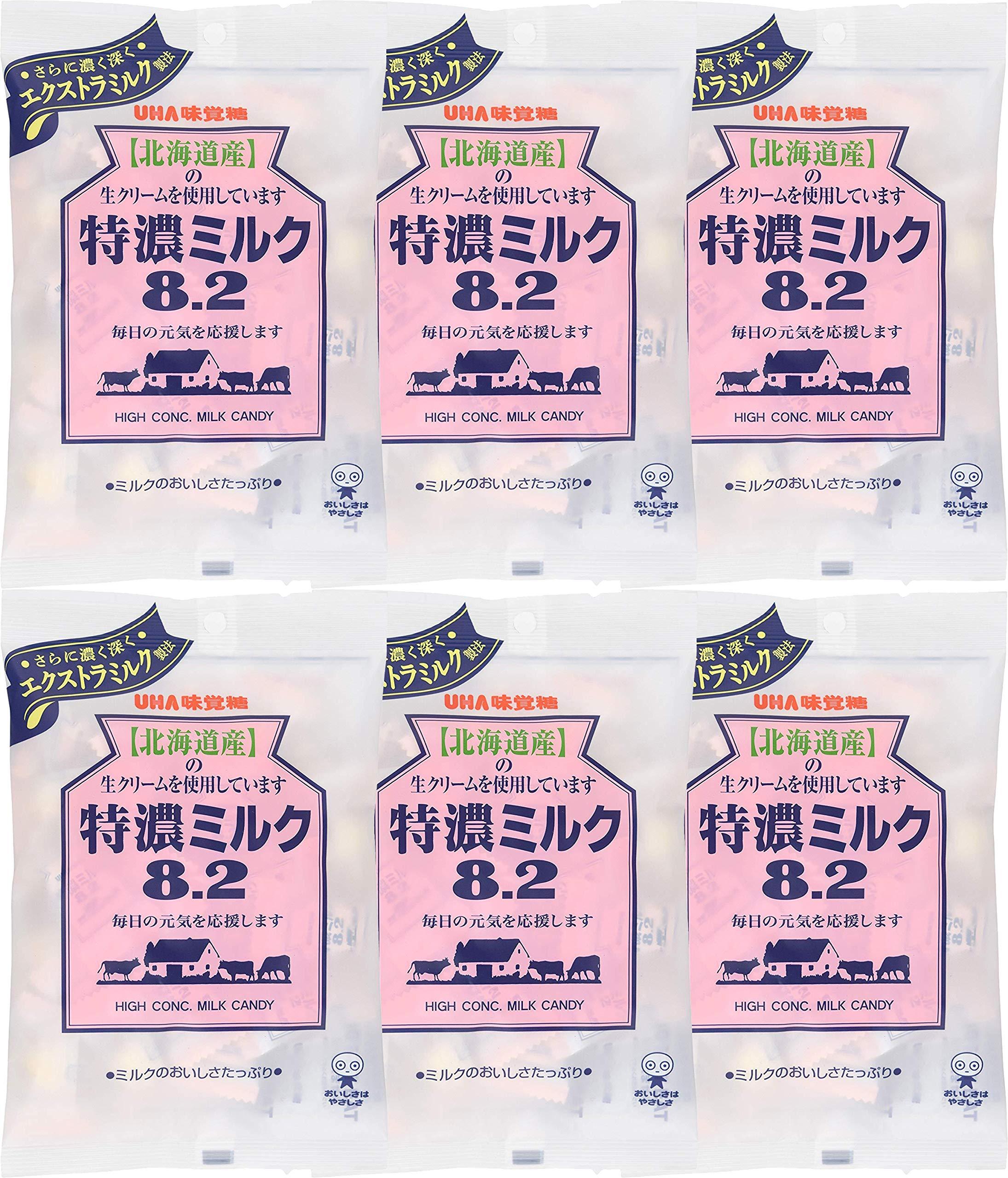 Mikakuto Tokuno Japanese Milk Candy, Bags (Pack of 6) JAPAN INPORT by UHA Mikakutou