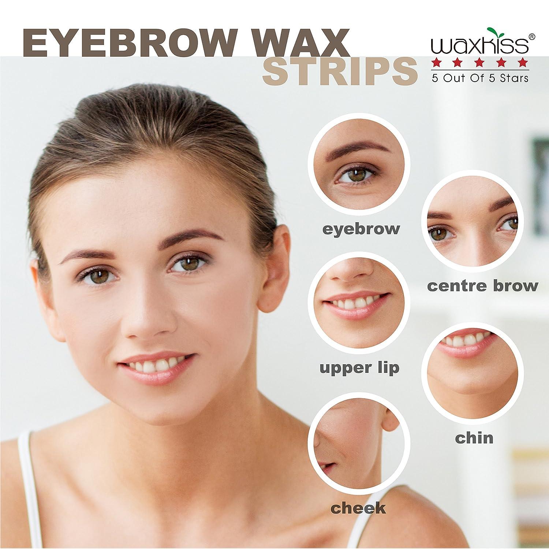 Amazon Waxkiss Eyebrows Waxing Strips Cold Wax Strip With Fda