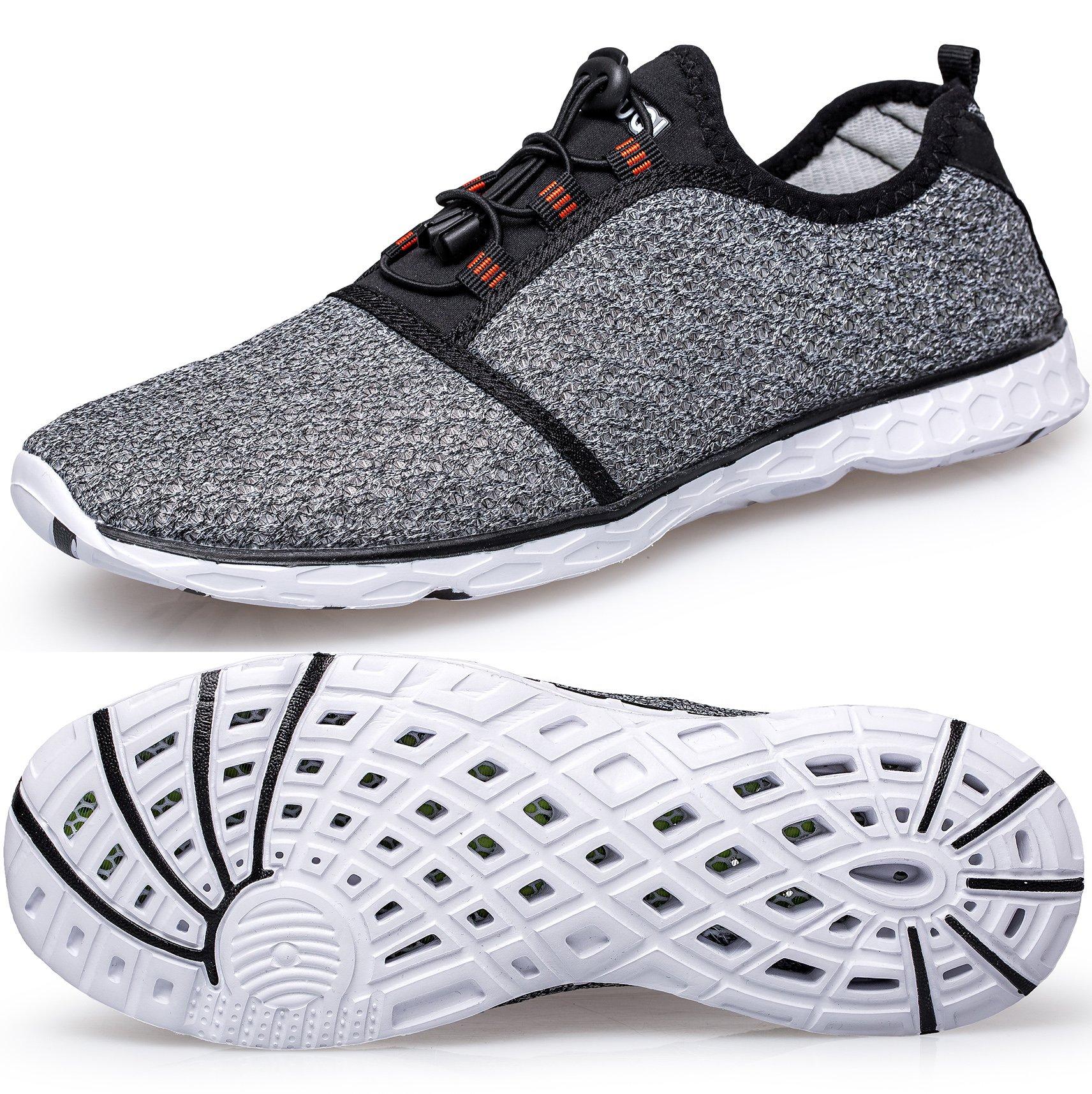 TIANYUQI Women's Mesh Slip On Water Shoes,Gray 2,39EU/8.5US