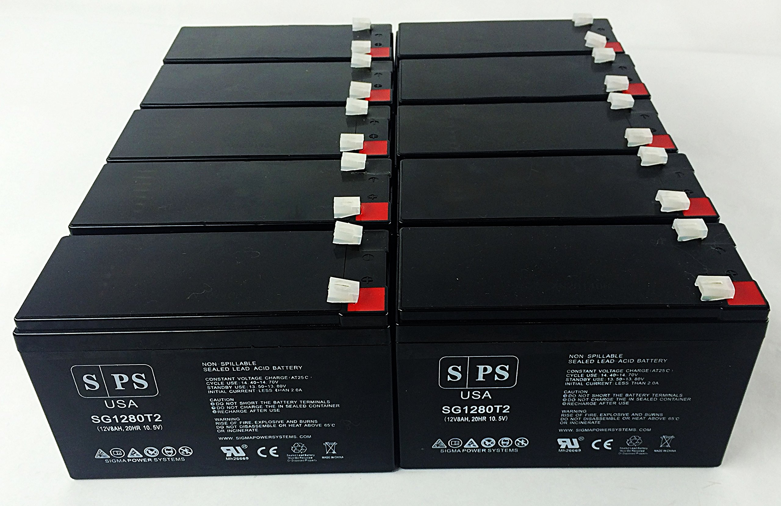 Replacement Battery for APC Professional 12V 8Ah UPS Battery ( 10 pack)
