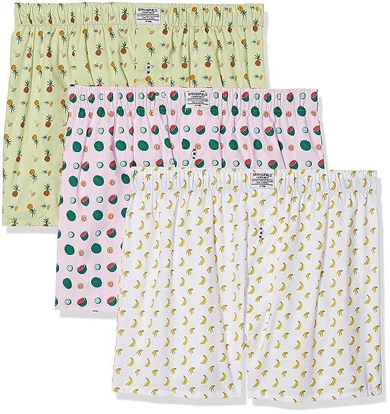 Springfield 1163442 Pack 3 boxers tela Frutas, Hombre, Blanco (Blanco), Small