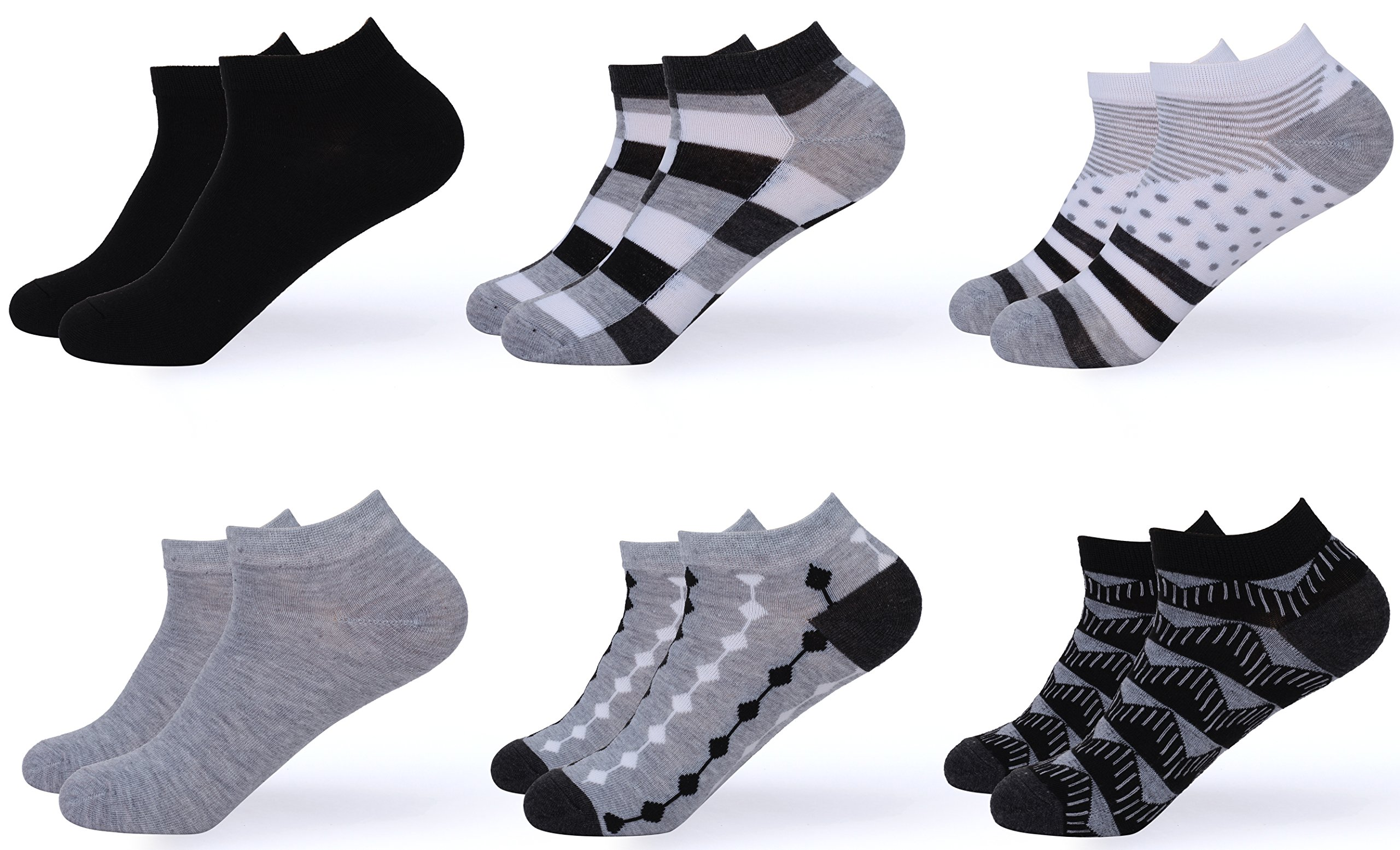 Gallery Seven Women's Ankle Socks - Low Cut Colorful Socks For Women - Size 9-11 - 6 Pack - Style 7