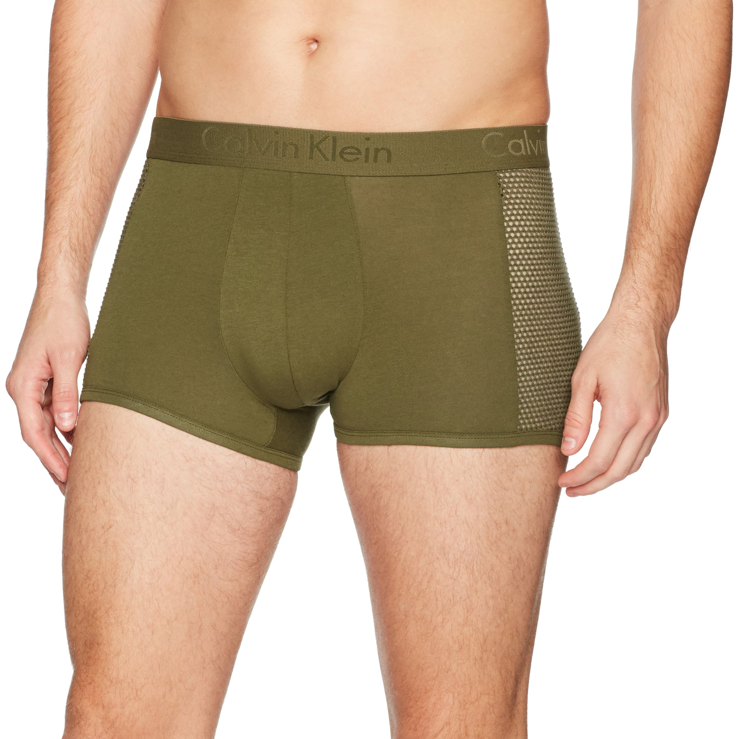Calvin Klein Men's Underwear Body Mesh Trunks, Rifle Green, Small by Calvin Klein