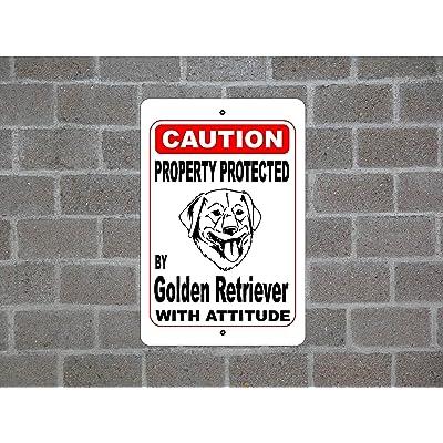 Aersing Funny Dog Signes Propriété protégée par Glen of Imaal Chien de Garde d'avertissement des Races en métal en aluminium Sign pour garage Maison cour Allée de clôture 30x45c