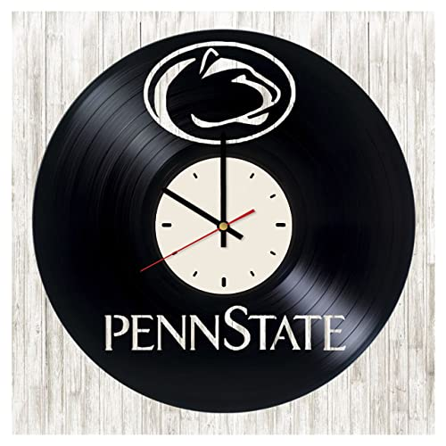 Penn State Football Lions Artwork Art Decor Vinyl Record Wall Clock Gift Idea For Birthday