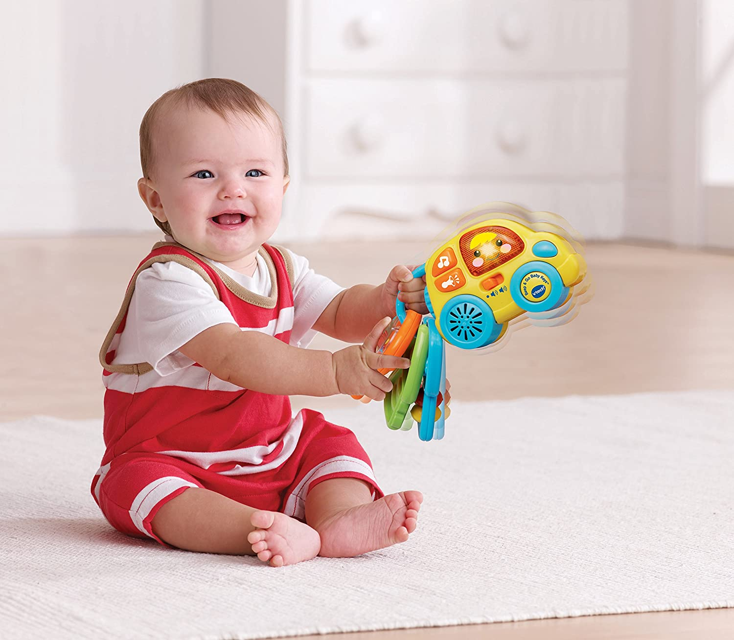 Amazon VTech Baby Beep and Go Baby Keys Toys & Games