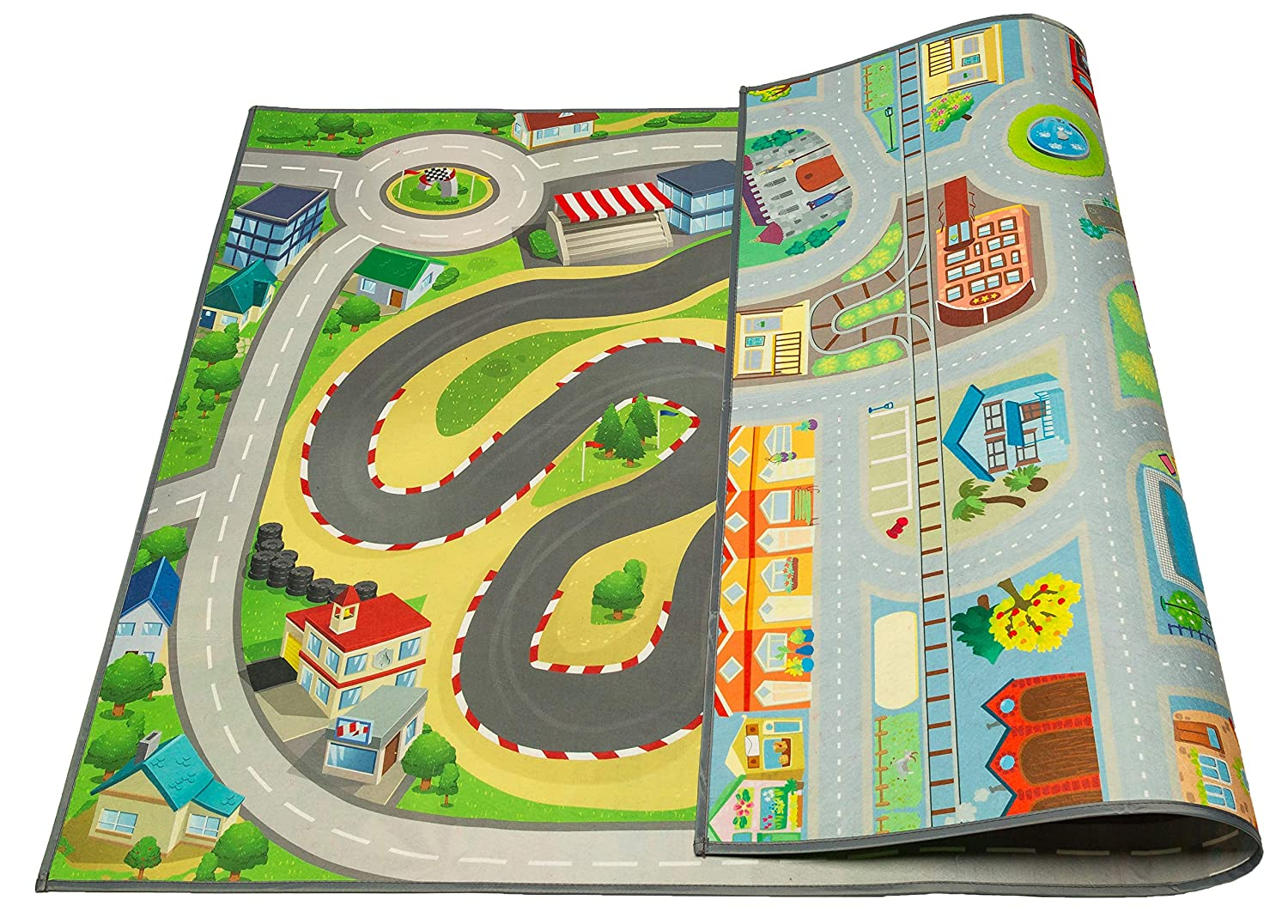 Machine Washable 59 L x 39 W/… Machine Washable 59 L x 39 W/… MMP Living Kids Double Sided Felt Play Mat 2 in 1 Princess /& Town Indoor//Outdoor