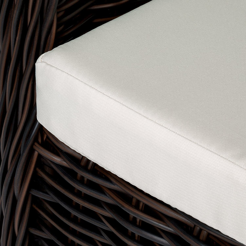 diverses Couleurs au Choix TecTake Aluminium Chaise de Jardin Salon Fauteuil Si/ège en Style Osier R/ésine Tress/ée avec Coussin et Coussin de Dossier Marron Mixte   no. 401975