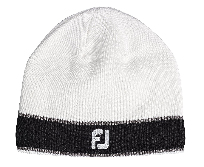 FootJoy FJ Winter Beanie Wool Hat with Fleece - White  Amazon.co.uk  Sports    Outdoors 282f5733014