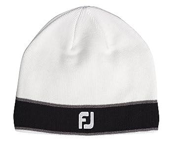 FootJoy FJ Winter Beanie Wool Hat with Fleece - White  Amazon.co.uk ... abeceb3c376