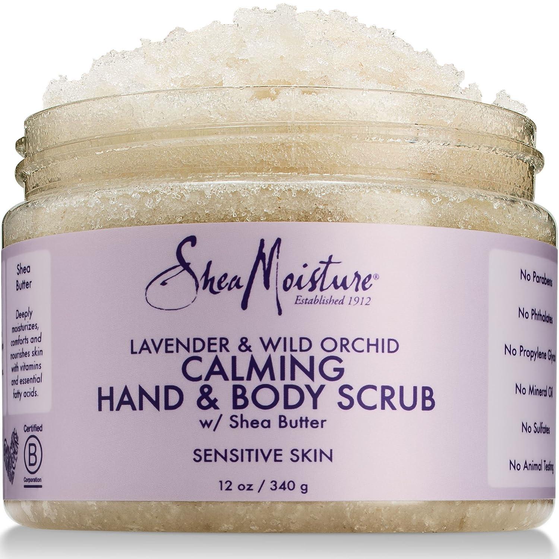 SheaMoisture Lavender & Wild Orchid Hand & Body Scrub | 12 Ounce
