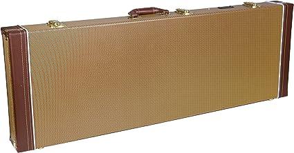 Crossrock - Estuche rígido de madera CRW600C con diseño de arco superior para guitarra acústica clásica con cuerdas de nailon, color tweed vintage: Amazon.es: Instrumentos musicales