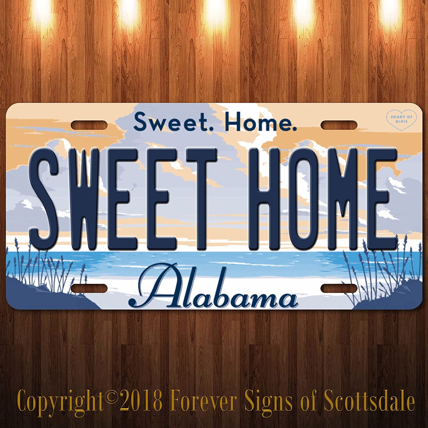 Sweet Home Alabama Funny Aluminum Vanity State License Plate