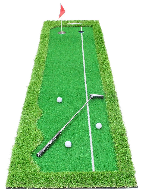 GolfStyle パターマット ゴルフ パター 練習 マット グリーン ライン有 300×75cm 7点セット   B071HTVQVW
