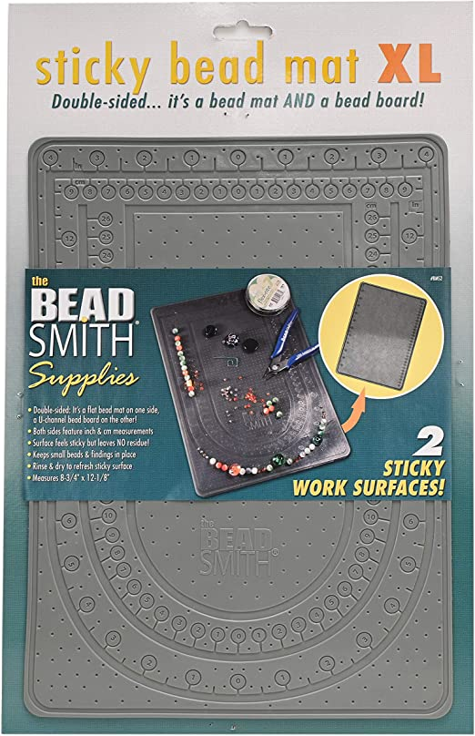 Beadsmith Bead Mat choose Sticky or Treasure Jewellery Beading Work Surface